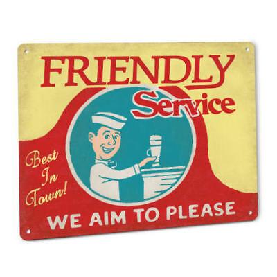 Friendly Service Soda Jerk Retro Sign 50s Diner Drug Store Fountain Cola (50s Soda Fountain)