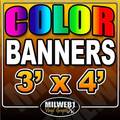 3x4 Custom Vinyl Banner 13oz Full Color 36x48