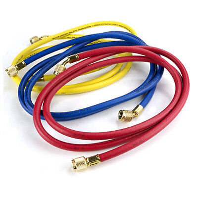 Yellow Jacket Plus-ii Charging Hose Set 72 Yellow Blue Red Part 21986