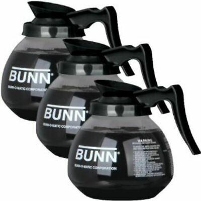 Coffee Pot Decanter Bunn 64oz Commercial Case Of 3 Glass Coffee Pots 42400.0103