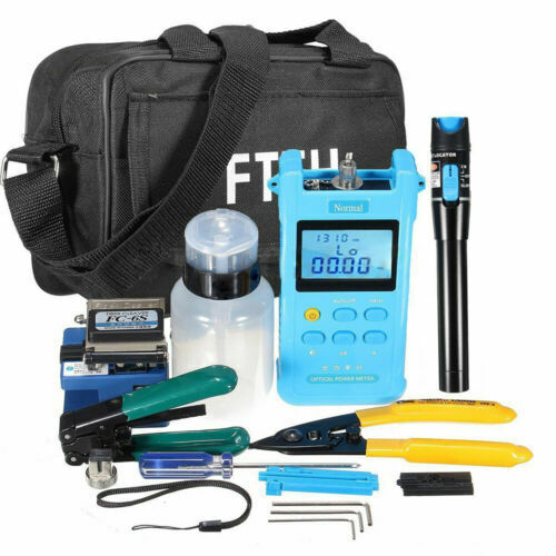 Self Calibration FTTH Fiber Optic Tool Kit Optical Power Meter Screwdriver NEW
