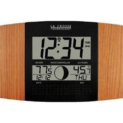 La Crosse Technology Atomic Clock Outdoor Weather Temperature Indoor Remote Moon
