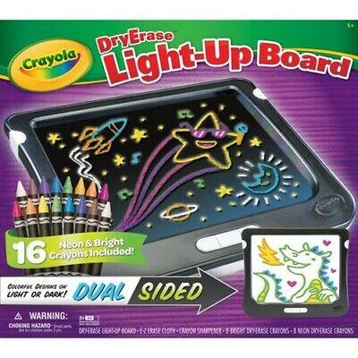 Crayola Dry Erase Light-Up Board NIB 16 Neon Crayons Dual Sided Light or Dark ](Crayola Dry Erase Light Up Board)