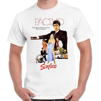 Scarface Al Pacino 80s Film Retro T Shirt 323