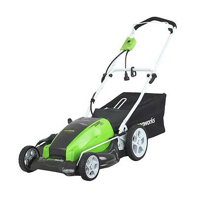 "Greenworks 13 Amp 21"" 3-in-1 Electric Lawn Mower 25112 New"