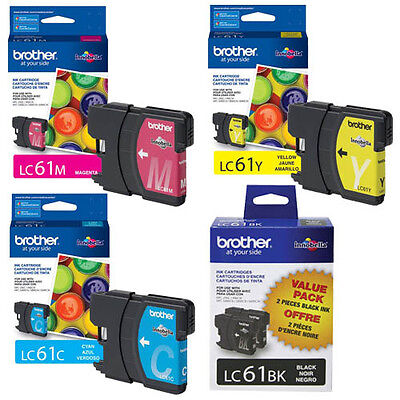 Brother DCP-165C Ink Cartridge Set - 2pcs Black with 1 of each (Brother Dcp 165c Color)