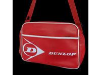 Vintage Dunlop Red Satchel Messenger Bag