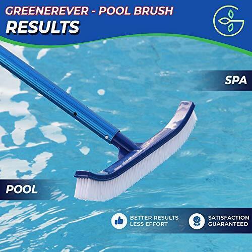 Premium 18 inch Pool Brush Durable Head Swimming Pool Brush Nylon Bristles NEW