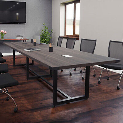 Modern Conference Room Table With Metal Base Boardroom 8 10 12ft 14ft 16 Foot