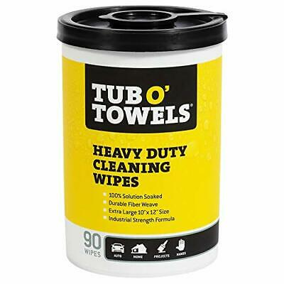 Tub O Towels TW90 HeavyDuty 10 x 12 Size MultiSurface Cleaning Wipes 90 Count