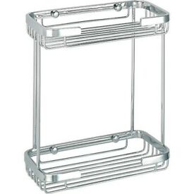 Bathstore Flow rectangular shower double wire basket Product code 41800031100