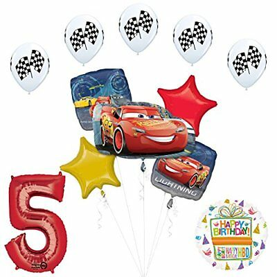 Disney Cars 3 Lighting McQueen 5th Birthday Party Supplies  - Mcqueen Birthday Supplies