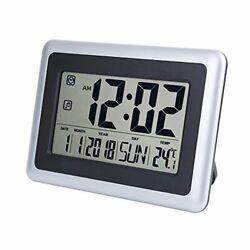 UMEXUS Large Display Digital Wall Clock Desk Alarm Clock with Calendar & Tempera