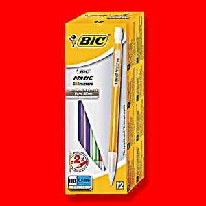 12 X BIC MATIC 0.5MM MECHANICAL PENCILS SHIMMERS BICMATIC AUTOMATIC