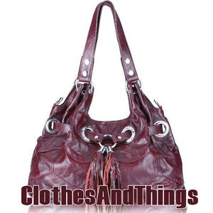 Designer Inspired Vintage Red Wine Handbag - BRAND NEW