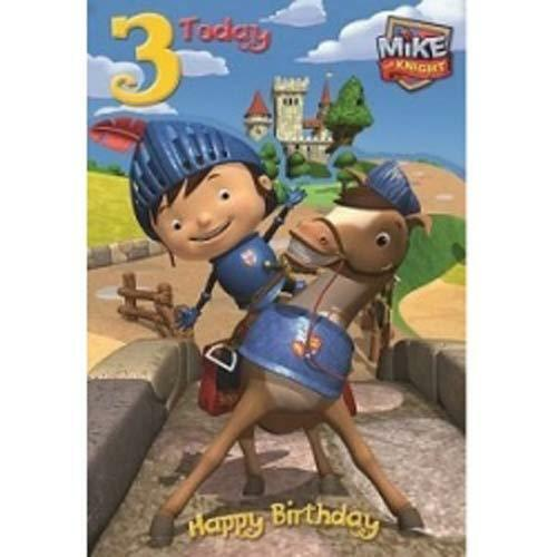 Mike The Knight Birthday Card Age 3  Free First Class Postage