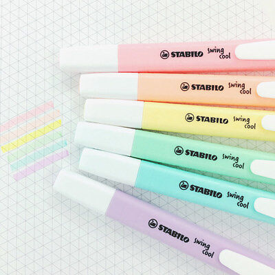 Stabilo Pastel Color Swing Cool Pocket Highlighter Marker Colour Office - Pastel Color