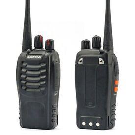 2x bafoeng bf888s walkie talkies