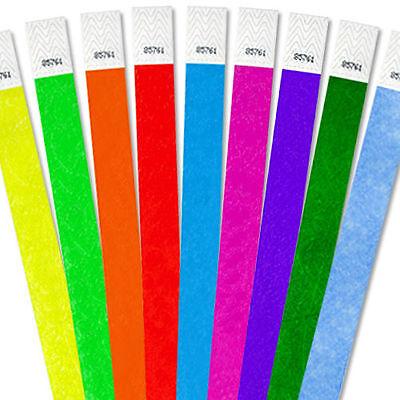 """100, 500, 1000ct 3/4""""Paper Bracelets - Choose Your Color-Bars"""