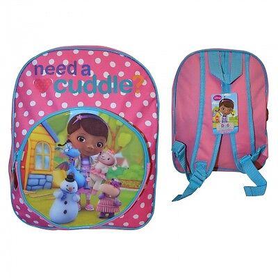 Disney Doc Mcstuffins Junior Front Pocket School Bag Rucksack Backpack New Gift
