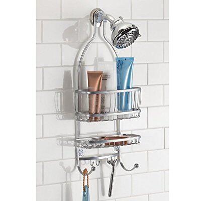 Hanging Shower Head Caddy Bathroom Storage Shelves Rack Organizer ...