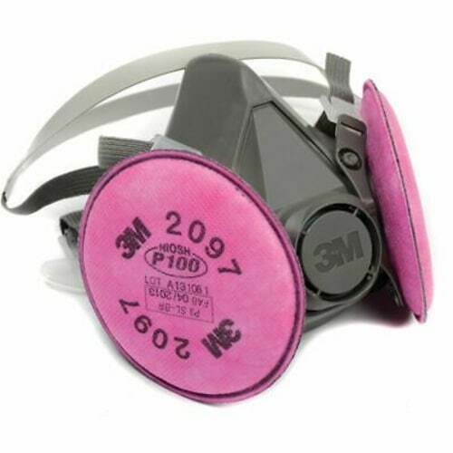 3M 6300 Half Facepiece Respirator W/ 3M 2097 P1OO Filter Cartridge, Size: LARGE