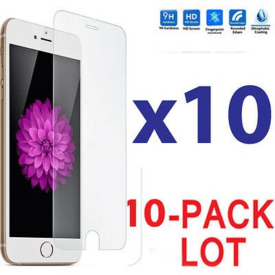 10x Wholesale Lot Tempered Glass Screen Protector for Apple iPhone 6 Plus