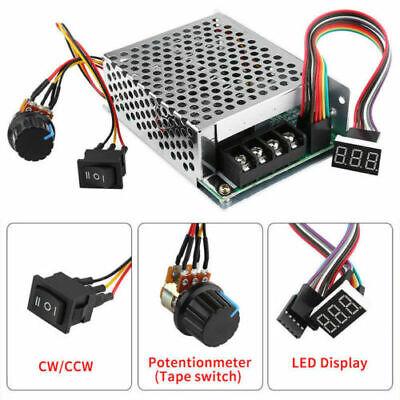Pwm Motor Speed Controller Cw Ccw Reversible Switch Set Dc10-55v 12v 24v 36v 60a