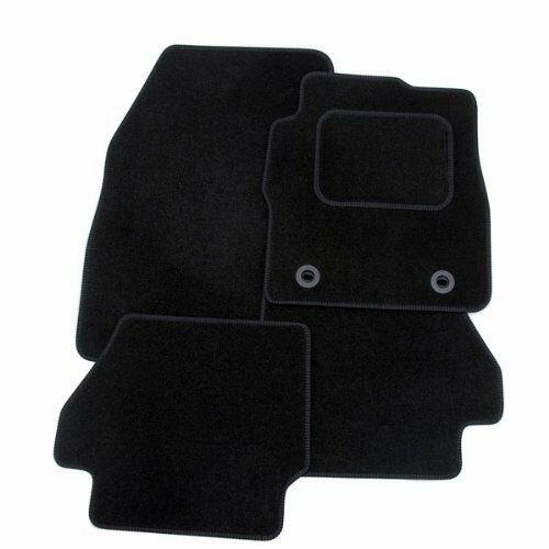TOYOTA AYGO 2005-2013 (2X CLIP) TAILORED CAR FLOOR MATS- BLACK WITH BLACK TRIM
