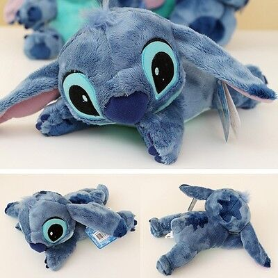 "BNWT Disney Official 10"" Lying Stitch Plush Lilo&Stitch Soft Stuffed Toy Doll"