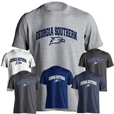 Georgia Southern Eagles GSU Arch Text with Mascot Logo Short Sleeve T-Shirt