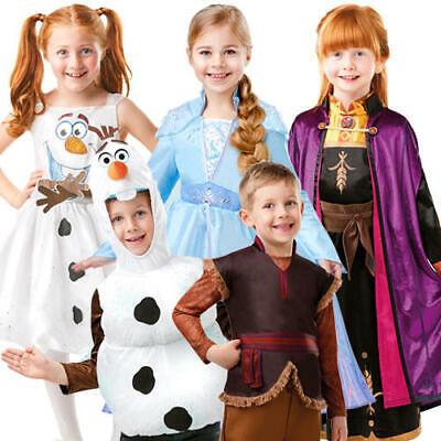 Disney Princess Costumes For Kids (Disney Frozen 2 Kids Fancy Dress Winter Princess Fairy Tale Boys Girls Costumes)