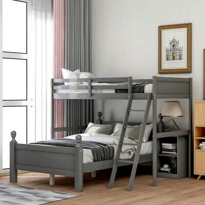 twin over full bunk bed wood loft