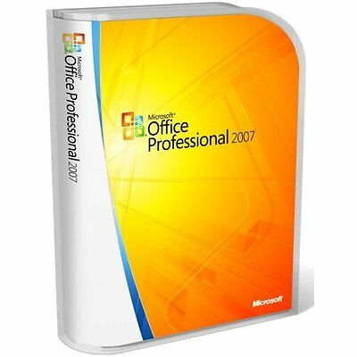 Microsoft Office Professional 2007  Word Excel Outlook One Note   5 User Pc