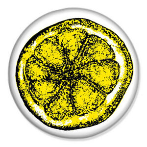 Stone roses lemon 25mm 1 pin badge button indie cool rock for Lemon button