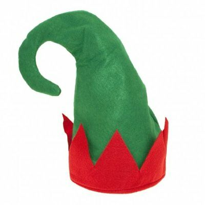 Grün Erwachsene Weihnachten Elfen Hut Santa's Helfer Kostüm