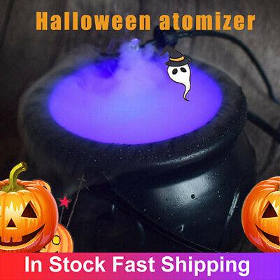 Halloween Rauchmaschine LED Luftbefeuchter Farbwechsel Party DIY Dekor Mist Make