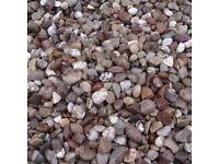 Approx 1 ton 20mm gravel - purple/grey/pink