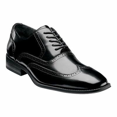 Stacy Adams WARDELL Mens Black Oxford Wing Tip Dress Shoes ()