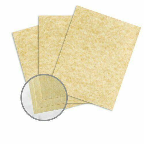 """8.5 x 11"""" Astroparche Ancient Gold Parchment Paper - 60lb Text Vellum - 500 Qty"""