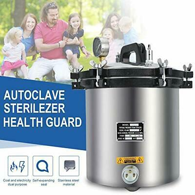 18l Steam 110v Autoclave Sterilizer Dental Pressure Sterilization Dual Heating
