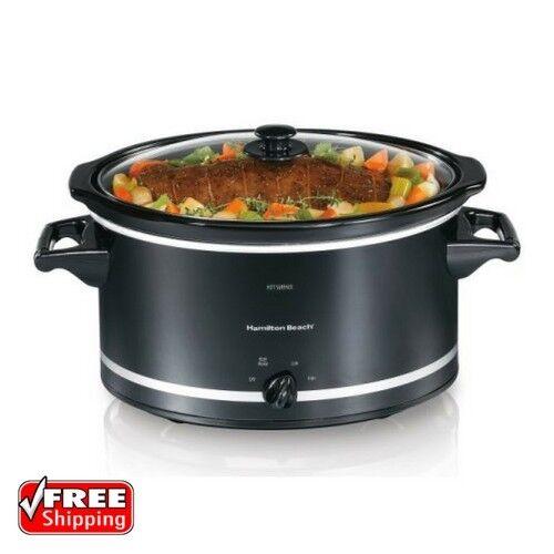Slow Cooker Crock Pot Oval Ceramic Extra-Large Capacity