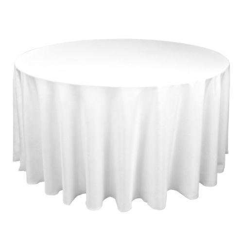 120 Round White Tablecloths Ebay