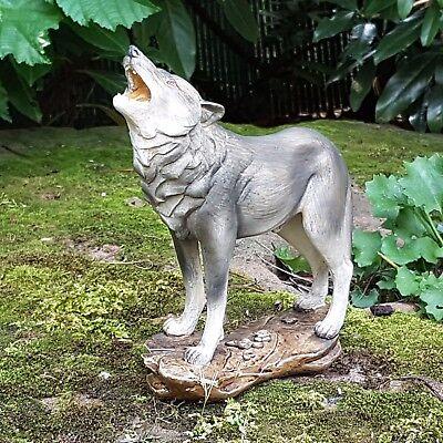 Heulender Wolf Deko Figur Wölfe Isegrim Wildnis Wildlife Raubtier Alaska Canada