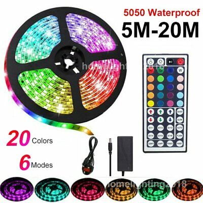 5m 10m 15m 20m 12V LED Strip Lights - 3528/5050 - RGB Remote -  IP65 Waterproof