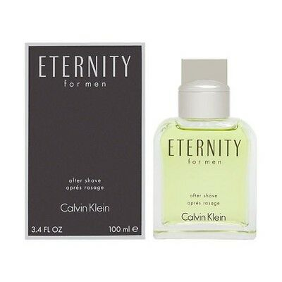 Eternity by Calvin Klein 3.4 oz After Shave for Men New In (Shave 3.4 Ounce)