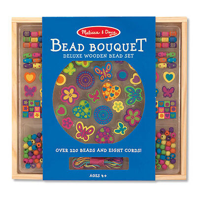 Melissa and Doug * Wooden Bead Bouquet * NEW beads set arts & craft activity toy