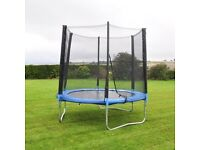 Activeplus 8ft Trampoline with Safety Net Enclosure and Rain Cover
