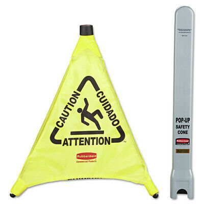 Rubbermaid Multilingual Caution 3-sided Safety Cone Yellow 9s00yel New