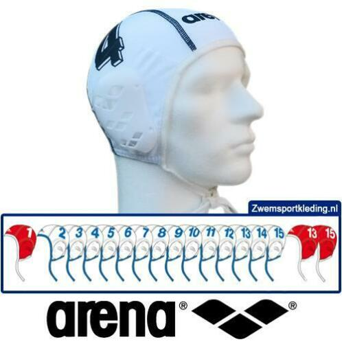 *Voordeelbundel* Arena waterpolo cap (size s/m) team set wit
